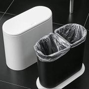 PENGKE Slim Plastic Trash Can 2.4 Gallon Garbage Can