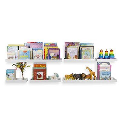 Wallniture Philly Set of 6 Varying Sizes Floating Shelves Trays Bookshelves