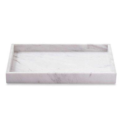 Asher Amada Genuine White Marble Vanity Tray Guest Towels Perfume Bathroom