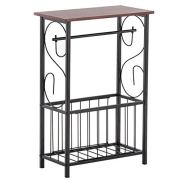 Lovinland Side End Table, Snack Table Table Coffee Tray Bathroom Table Brown