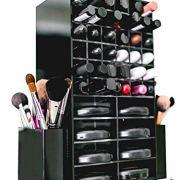 Spinning Acrylic Makeup Organizer Carousel - Holds 72 Lipstick Holder Slots