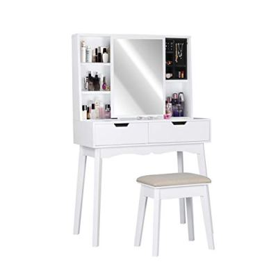 Vanity Table Set with Mirror and Makeup Organizer Dressing Table