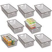 mDesign Modern Farmhouse Metal Wire Storage Organizer Bin Basket