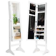 Giantex Jewelry Cabinet Armoire with 13 Led Lights, Large Storage