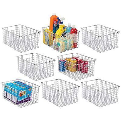 mDesign Farmhouse Decor Metal Wire Stackable Food Storage Organizer