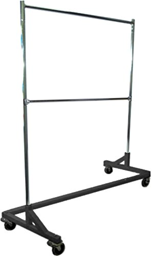 Only Hangers Commercial Grade Double Bar Rolling Z Rack