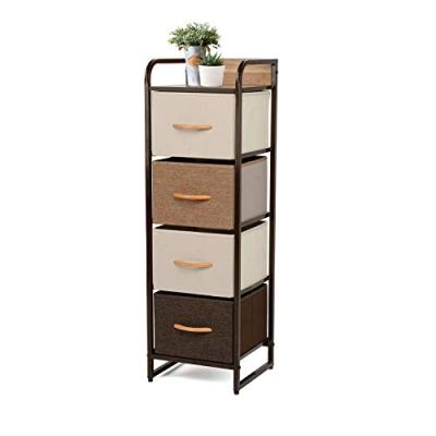 YOUNIS Home Dresser Storage Drawers, 4 Drawers Storage Chest Drawers