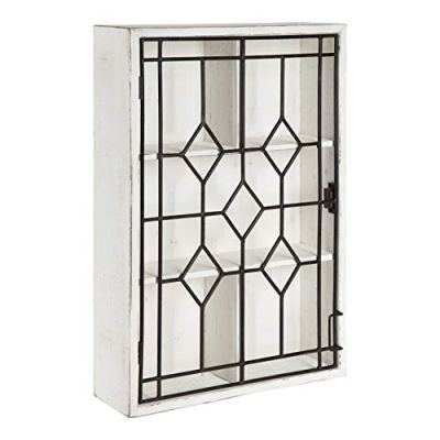 Kate and Laurel Megara Wooden Wall Hanging Curio Cabinet