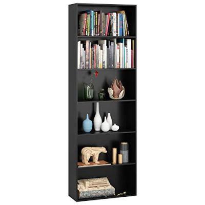 Homfa Bookshelf 70 in Height, Wood Bookcase 6 Shelf Free Standing Display