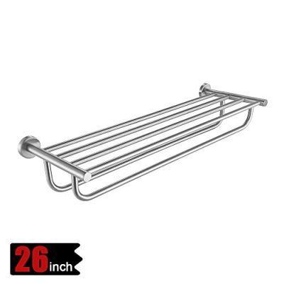 JQK Bathroom Towel Rack, Towel Shelf with 24 Inch Double Bar