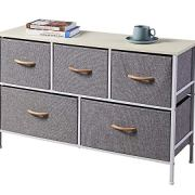 ALLZONE Cotton Extra Wide 5 Dresser Storage Tower for Bedroom