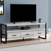 Monarch Specialties TV Stand-Console with 3 Drawers and Shelves