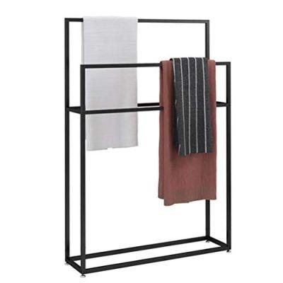 Freestanding Towel Rail Rack, Metal Towel Bar Stand, Drying Rack Airer
