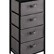 HOMEFORT Vertical Dresser,4-Tier Drawer Storage Organizer