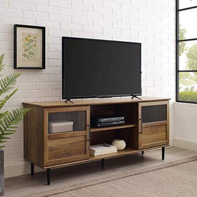 WE Furniture Open Storage TV Stand with Door Cabinets