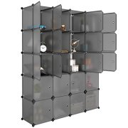 LANGRIA 20 Cube Organizer Stackable Plastic Cube Storage Shelves