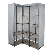 KARMAS PRODUCT Portable Non-Woven Fabric Corner Wardrobe Closet