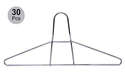 Quality Hangers 30 Extra Heavy Duty Anti Theft Security Metal Coat Hanger