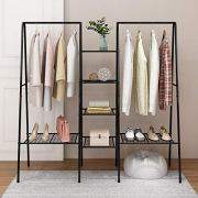 HOMERECOMMEND Metal Clothes Rack Heavy Duty Clothing