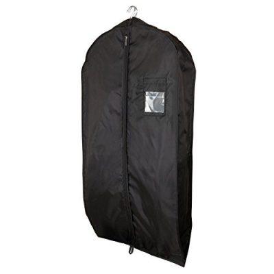 HANGERWORLD 5 Black 44inch Waterproof Nylon Multiple Garment Coat