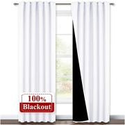 NICETOWN Full Shading Curtains, Super Heavy-duty Black Lined Blackout Drapes