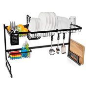Jumbl Over Sink Dish Drying Rack | Large Two Tier Vertical