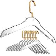 Designstyles Clear Acrylic Clothes Hangers - 10 Pk Stylish and Heavy Duty