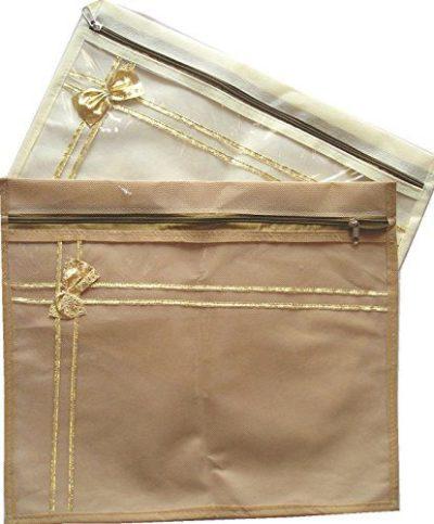 Mufaddal Traders 36 pc Oneside Clear Plastic Clothes Sari Saree Garment Storage