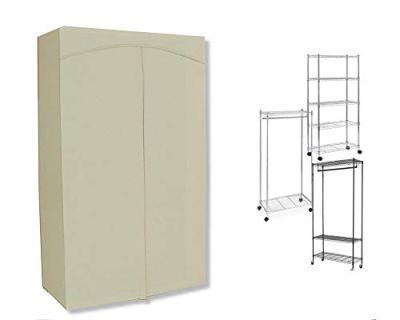 ClarUSA Premium Canvas/Duck Cover fits an Existing Garment/Shelf Unit