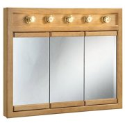 "Design House Mirrors/Medicine Cabinets, 36"", Nutmeg Oak"