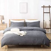 SORMAG 100% Washed Cotton Duvet Cover 3 Piece
