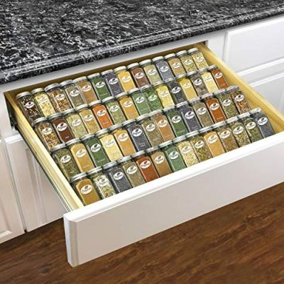 Lynk Professional Adjustable Expandable 4 Tier Steel Spice Rack