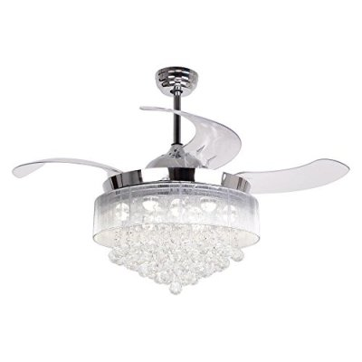 Parrot Uncle Ceiling Fan with LED Light Kit 46 Inch Remote Control