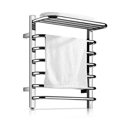 Homeleader Towel Warmer and Drying Rack, 9 Bars Plug-in Stainless Steel