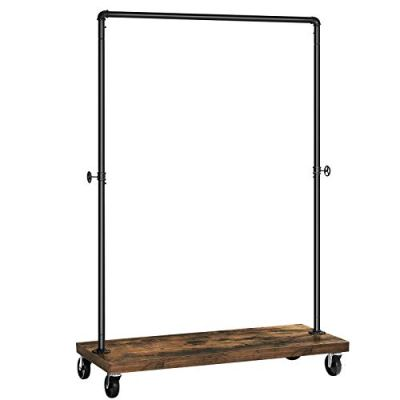 SONGMICS Clothes Rack, Industrial Pipe Style Rolling Garment Rack