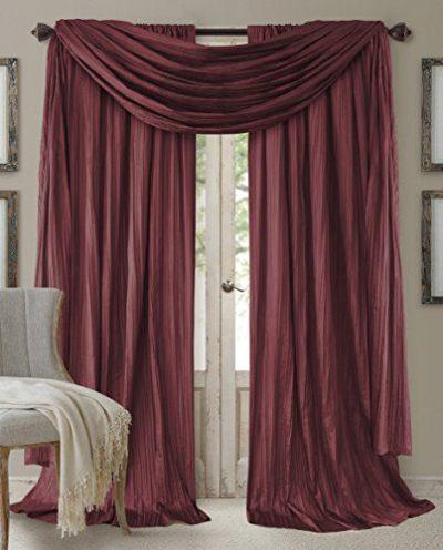 Elrene Home Fashions Window Curtain Drape Rod Pocket Panel