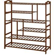 Ollieroo Bamboo Shoe Rack 6-Tier Entryway Shoe Shelf Storage Organizer