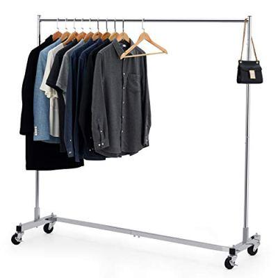 Bextsware Heavy Duty Clothing Rack, Industrial Grade Z-Base Garment Rack