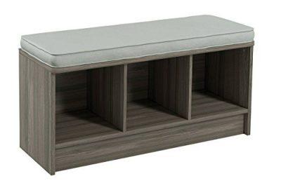 ClosetMaid Cubeicals 3-Cube Storage Bench, Natural Gray