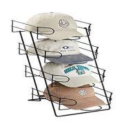 Only Hangers Tier Display Black Countertop Holds 36-48 Caps Baseball Hats