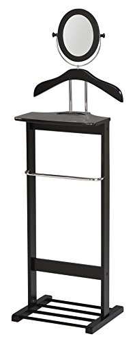 Kings Brand Millett Wood Suit Valet Stand Clothes Rack