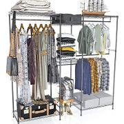 VIPEK 5 Tiers Wire Garment Rack Heavy Duty Clothes Rack Portable Clothes