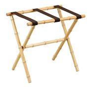 Gate House Furniture Bamboo Inspired Series Nylon Wood Luggage Rack