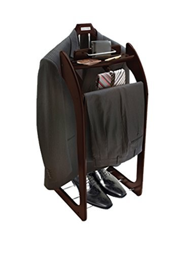 Beautiful Solid Hardwood Executive Clothes Valet Stand Expresso