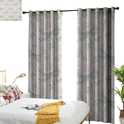 Exclusive Home Curtains Dragonfly Shabby Chic Roses Worn Old Vintage Backdrop