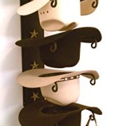 Mark Christopher Collection American Made Cowboy Hat Holder Star Black