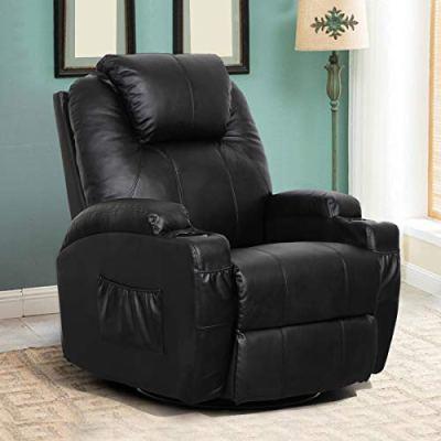 Esright Massage Recliner Chair Heated PU Leather Ergonomic Lounge