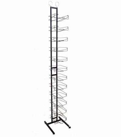 FixtureDisplays 12-Tier Caps Display Rack Baseball Hat Headwear Rack Floor
