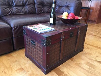 Styled Shopping Brooklyn Park Large Wood Storage Trunk Wooden Treasure Chest