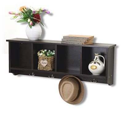 love furniture 36-Inch Hanging Entryway Shelf Coat Rack Wall Mounted Cabinets